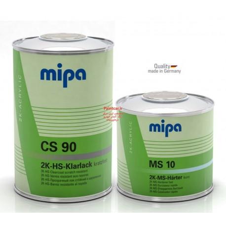 کلیر دوجزئی ضدخش سریع خشک+هاردنر HS CS90 + MS 10 میپا Mipa ساخت آلمان