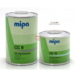 کلیر دوجزئی ضدخش فوق درخشان+هاردنر HS CC9 + MS 10 میپا Mipa ساخت آلمان