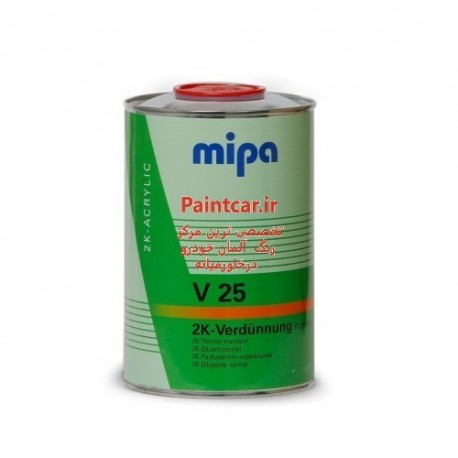 تینر مخصوص کلر و رنکهای دوجزئی  نرمال 1 لیتری میپا Verdünnung  ( V25 ) Mipa